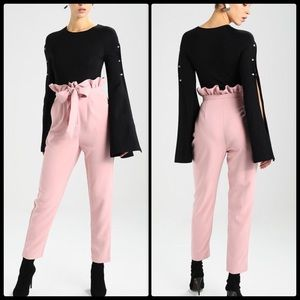 LOST INK 🌸Paper Bag Peg Trousers NWT